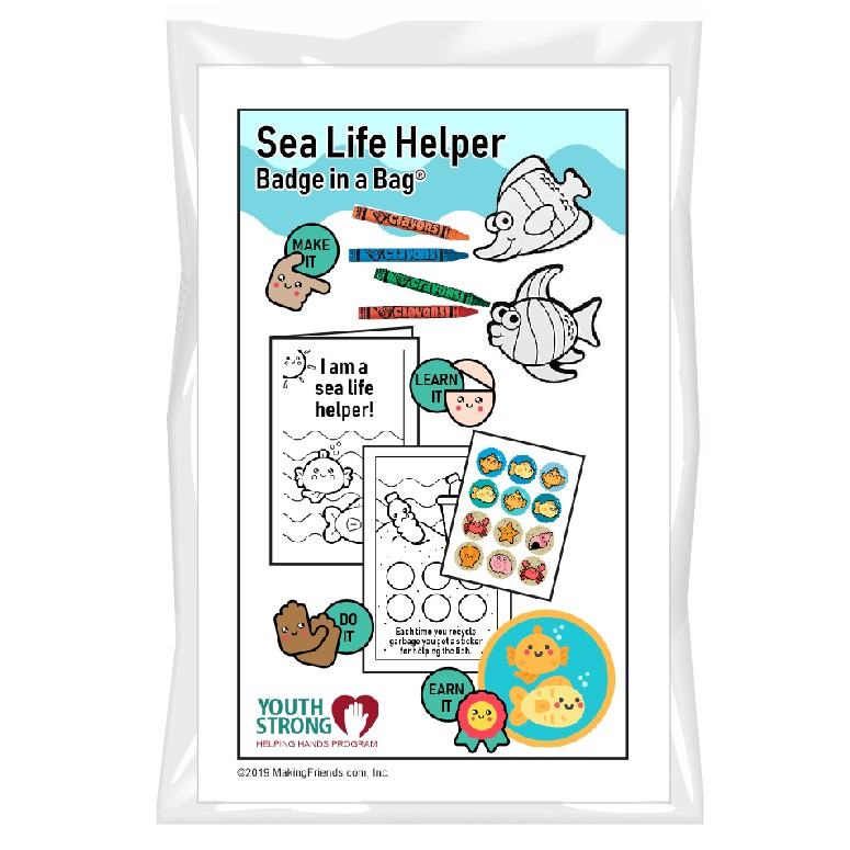 This Sea Life Helper Badge in a Bag® is part of the Youth Squad Animal Welfare Patch Program® and will teach your kids about empathy. The Helping Hands level is specifically created for 3 and 4 year old girls and boys or anyone with the abilities of a preschooler. Perfect for tag alongs at your troop meeting. Youth Squad partnered with MakingFriends®.com to bring you this animal welfare community service patch program®. via @gsleader411