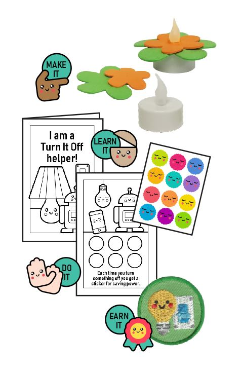 This Turn It Off Helper Badge in a Bag® is part of the Youth Squad Environmental Patch Program® will teach your kids about not wasting energy. The Helping Hands level is specifically created for 3 and 4 year old girls and boys or anyone with the abilities of a preschooler. Perfect for tag alongs at your troop meeting. Youth Squad partnered with MakingFriends®.com to bring you this environmental community service patch program®. via @gsleader411