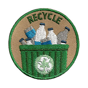 "The Recycle Service Patch is from the Youth Squad Environmental Patch Program®. MakingFriends®.com partnered with Youth Squad to bring you a rewarding community service program with step-by-step instructions for every age level to make a meaningful impact in their community. This is one of our ""Friend"" level patches which is great for younger achievers.   via @gsleader411"