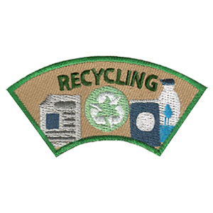 "The Recycling Advocate Service Patch is from the Youth Squad Environmental Patch Program®. MakingFriends®.com partnered with Youth Squad to bring you a rewarding community service program with step-by-step instructions for every age level to make a meaningful impact in their community. This is one of our ""Advocate"" level patches. The requirements for our Advocate level patch program® are geared toward getting support for a specific project of your choosing. via @gsleader411"