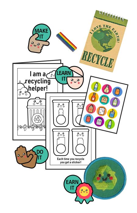 This Recycling Helper Badge in a Bag® is part of the Youth Squad Environmental Patch Program® and will teach your kids about recycling. The Helping Hands level is specifically created for 3 and 4 year old girls and boys or anyone with the abilities of a preschooler. Perfect for tag alongs at your troop meeting. Youth Squad partnered with MakingFriends®.com to bring you this environmental community service patch program®. via @gsleader411