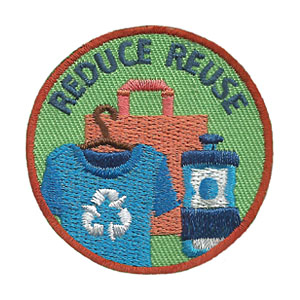 "The Reduce Reuse Service Patch is from the Youth Squad Environmental Patch Program®. MakingFriends®.com partnered with Youth Squad to bring you a rewarding community service program with step-by-step instructions for every age level to make a meaningful impact in their community. This is one of our ""Friend"" level patches which is great for younger achievers.   via @gsleader411"