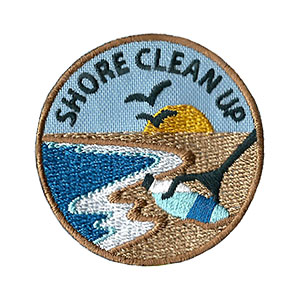 "The Shore Clean Up Service Patch is from the Youth Squad Environmental Patch Program®. MakingFriends®.com partnered with Youth Squad to bring you a rewarding community service program with step-by-step instructions for every age level to make a meaningful impact in their community. This is one of our ""Friend"" level patches which is great for younger achievers.   via @gsleader411"
