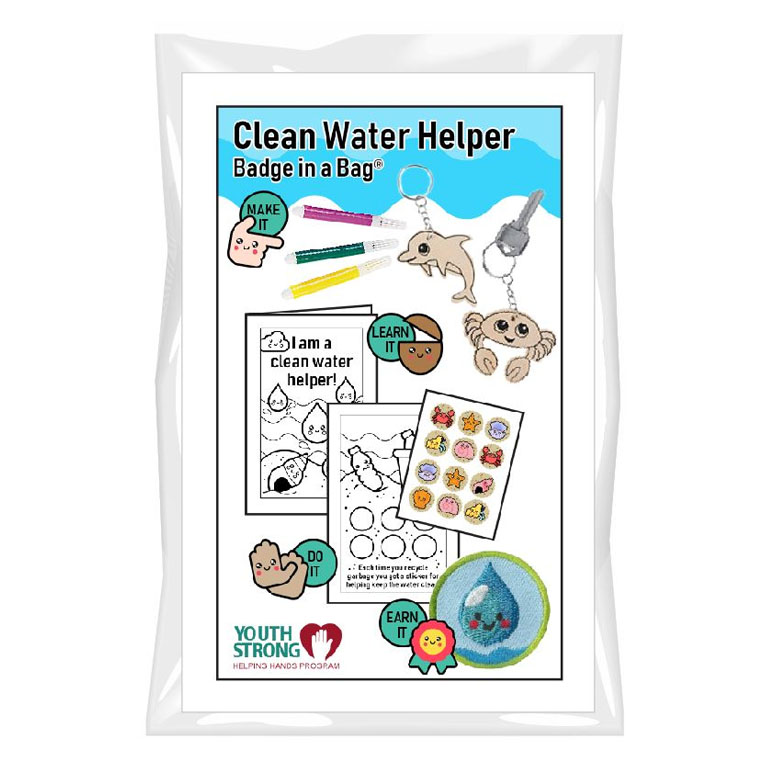This Clean Water Helper Badge in a Bag® is part of the Youth Squad Environmental Patch Program® and will teach your kids that clean water is important. The Helping Hands level is specifically created for 3 and 4 year old girls and boys or anyone with the abilities of a preschooler. Perfect for tag alongs at your troop meeting. Youth Squad partnered with MakingFriends®.com to bring you this environmental community service patch program®. Patch included. via @gsleader411