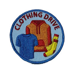 Clothing Drive Service Patch from Youth Strong