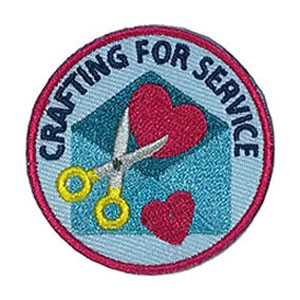 "The Crafting For Service Service Patch is from the Youth Squad Outreach Patch Program®. MakingFriends®.com partnered with Youth Squad to bring you a rewarding community service program with step-by-step instructions for every age level to make a meaningful impact in their community. This is one of our ""Friend"" level patches which is geared toward younger achievers and usually include supply drives, clean ups or other actions that assist volunteers or organizations with a specific project. via @gsleader411"