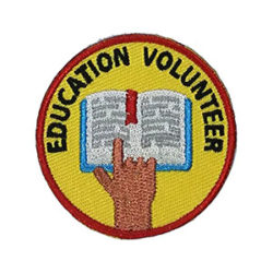 Education Volunteer Service Patch from Youth Strong