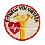 Fitness Volunteer Service Patch from Youth Strong