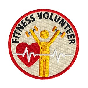 "The Fitness Volunteer Service Patch is from the Youth Squad Outreach Patch Program®. MakingFriends®.com partnered with Youth Squad to bring you a rewarding community service program with step-by-step instructions for every age level to make a meaningful impact in their community. This is one of our ""Volunteer"" level patches. Children as young as eight years old can self-lead by following along with the requirements. via @gsleader411"