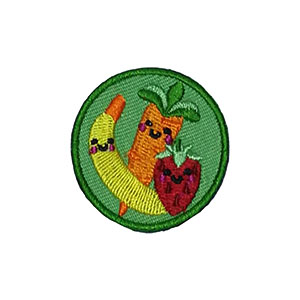 The Healthy Food Helper Service Patch. Your little ones will enjoy earning this healthy food patch and be just like the big kids. The Helping Hands level is specifically created for 3 and 4 year old girls and boys or anyone with the abilities of a preschooler. Perfect for tag alongs at your troop meeting. Part of the Outreach Patch program from Youth Squad and MakingFriends®.com. via @gsleader411