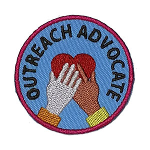 The Outreach Advocate Service Patch is from the Youth Squad Outreach Patch Program®. MakingFriends®.com partnered with Youth Squad to bring you a rewarding community service program with step-by-step instructions for every age level to make a meaningful impact in their community. Earn the Outreach Advocate Service Patch by completing all 5 advocate level service patches. This program is designed to be flexible for anyone and any group. via @gsleader411