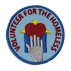 Volunteer for the Homeless Service Patch from Youth Strong