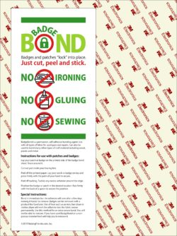 BadgeBond Patch Adhesive