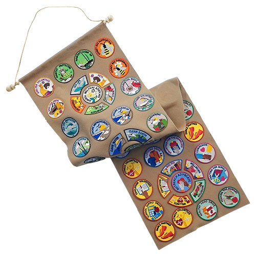DIY Patch Banner Kit. Easy and economical! This DIY kit makes it easy to display your patches and pins. Order 6 or more for free shipping. Choose your color: blue, brown, green or tan.Available at MakingFriends®.com via @gsleader411
