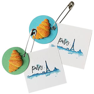 Paris Croissant Friendship Swap Kit. Breakfast in Paris anyone? You can be there in spirit by sharing our croissant swaps. Fun if your girls chose from for their international celebration. Kit makes 24 and is available at MakingFriends®.com. via @gsleader411