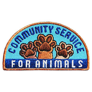 Community Service for Animals Patch. Boys and girls who are passionate about taking care of animals will want to earn the Community Service for Animals Patch! Contact local animal shelters and rescue organizations to find out what service project best fits your troop or youth group. Available at MakingFriends®.com. via @gsleader411