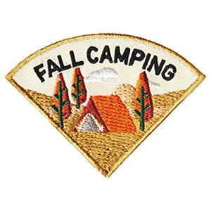 Fall Camping Patch - Wedge. This Fall Camping patch is one of four in our Camping Seasons patch group. Order just this one or plan a camping trip for each season of the year! Available at MakingFriends®.com. via @gsleader411