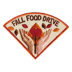 Fall Food Drive Patch -- Wedge. This Fall Community Service patch is one of four in our Seasons of Service patch group. Order just this one or expand your community service to four projects this year! Available at MakingFriends®.com via @gsleader411