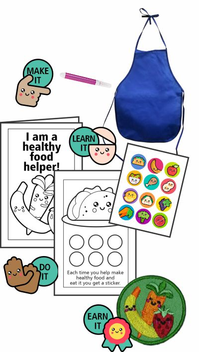Healthy Helper Badge in a Bag