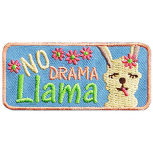 """No Drama Llama Patch. This cute patch demonstrates that your troop intends to remain drama free! A great patch for after completing team building and anti bullying activities. Patch available at MakingFriends®.com. Need some ideas to keep your troop drama free? Take a look at these blogs at Making Friends Youth Squad. a member of the MakingFriends®.com family. •The Four """"Cs"""" to Stop Bullying in your Troop or Group •Tips for Troop Leaders to Address Mean Girl Behaviors via @gsleader411"""