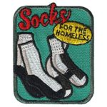 Girl Scout Socks for the Homeless Service Patch