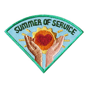Summer of Service Patch -- Wedge. This beautiful summer community service patch will be a wonderful reminder of your project. This is one of four in our Seasons of Service patch group. Order just this one or expand your community service to four projects this year! Available at MakingFriends®.com. via @gsleader411