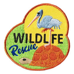 Girl Scout Wildlife Rescue Fun Patch