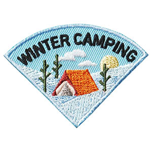 Winter Camping Patch - Wedge. This Winter Camping patch is one of four in our Camping Seasons patch group. Order just this one or plan a camping trip for each season of the year! Available at MakingFriends®.com. via @gsleader411