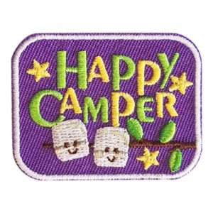 "Happy Camper Patch. The ""Happy Camper"" patch from MakingFriends®.com is great way to commemorate a camping experience. One that will bring back great memories. via @gsleader411"