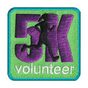 5K Volunteer Patch. Get your scouts the 5K Volunteer Patch from MakingFriends®.com after they help out at a 5K. Volunteers are often needed to hand out water, check in runners and more. via @gsleader411