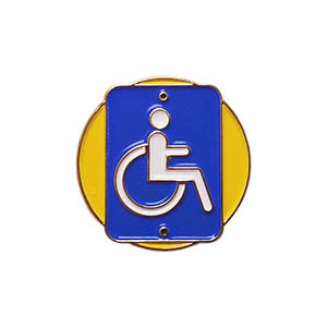 Accessibility Delegate Pin for Community Service from Youth Squad