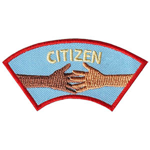 "The Citizen Advocate Service Patch is from the Youth Squad Community Patch Program®. MakingFriends®.com partnered with Youth Squad to bring you a rewarding community service program with step-by-step instructions for every age level to make a meaningful impact in their community. This is one of our ""Advocate"" level patches which are geared toward teens. Become a Community Advocate by earning all 5 community advocate level patches. via @gsleader411"