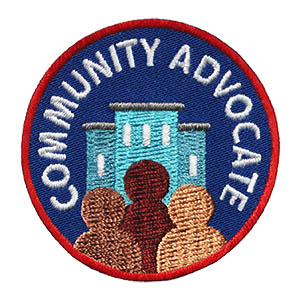 The Community Advocate Service Patch is from the Youth Squad Community Patch Program®. MakingFriends®.com partnered with Youth Squad to bring you a rewarding community service program with step-by-step instructions for every age level to make a meaningful impact in their community. Earn the Community Advocate Service Patch by completing all 5 advocate level service patches. This program is designed to be flexible for anyone and any group. via @gsleader411