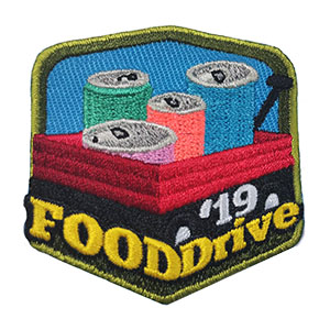 Food Drive 2019 Service Patch. Volunteers of every age can participate in a food drive! Work together with your troop, service unit or youth group. You can arrange a food drive with your local supermarket or everyone can collect from family, friends and neighbors. Reward your scouts with the Food Drive 2019 Service Patch from MakingFriends®.com. Limited supply. On clearance while supplies last. via @gsleader411