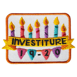 Investiture 2019 Patch on sale while supplies last. Your new girls will feel very special during their investiture. Give them this beautiful Investiture 2019 Patch from MakingFriends®.com for their vest to commemorate that 2019-20 was their first year as Girl Scouts*. Girls returning for another fun year can get the Rededication 2019 Patch so everyone in the troop can have the same design!  Limited quantities available. via @gsleader411