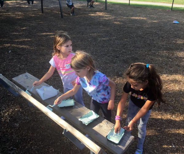 Girl Scouts enriching their community.