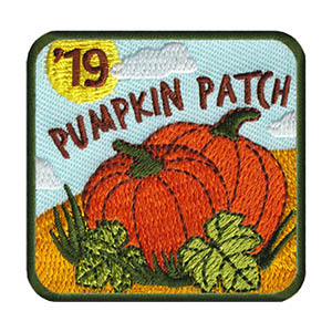 Pumpkin Patch 2019 Patch. Limited supply. On clearance while supplies last. Pumpkin picking is the must do fall season activity! This bright Pumpkin Patch 2019 Patch from MakingFriends®.com is the perfect reminder of a fun day with the troop. via @gsleader411