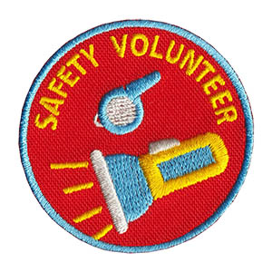 Safety Volunteer Service Patch from Youth Squad