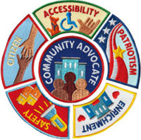 Community Advocate Service Patches from Youth Strong