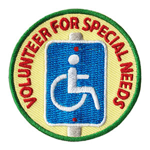 "The Volunteer for Special Needs Service Patch is from the Youth Squad Community Patch Program®. MakingFriends®.com partnered with Youth Squad to bring you a rewarding community service program with step-by-step instructions for every age level to make a meaningful impact in their community. This is one of our ""Volunteer"" level patches. Children as young as eight years old can self-lead by following along with the requirements. via @gsleader411"