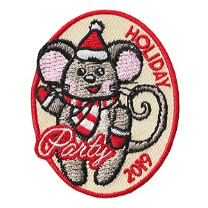 Holiday Party 2019 Patch. Woo hoo! It's party time! Have a great time with your girls at your holiday party this year and add this cute holiday mouse patch from MakingFriends®.com to their vests. Limited supply. On clearance while supplies last. via @gsleader411