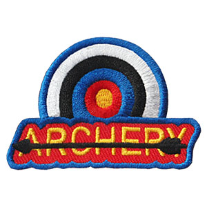 Archery Patch - Target from MakingFriends®.com. Give your scouts a chance to earn the Archery patch! Check with your council or community for archery opportunities with a certified USA Archery instructor so you can be sure to give your scouts receive proper instruction and use equipment appropriate for their age. The Archery Patch from MakingFriends®.com shows your scouts had fun time learning how to use a bow and arrow safely. via @gsleader411