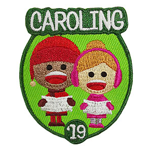 Caroling 2019 Patch from MakingFriends®.com. The bright and cheery Caroling 2019 patch from MakingFriends®.com is perfect for all levels. After caroling in the neighborhood, at an event or for community service, your girls will love adding this to their vest! Limited supply. On clearance while supplies last. via @gsleader411