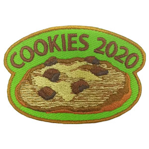 """Cookies are a treat that everyone looks forward to and the Girl Scout Cookie* sale is a big event for every troop. Why not make it even more fun by including the """"Cookies 2020"""" Patch from MakingFriends®.com for each scout that helps with the project? via @gsleader411"""