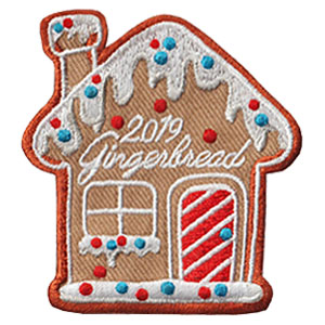 Gingerbread 2019 Patch.  Decorating or making gingerbread houses is a memorable holiday experience your troop with love! The Gingerbread 2019 patch from MakingFriends®.com will remind them of the fun your girls had this year. Limited supply. On clearance while supplies last. via @gsleader411