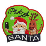 Photo with Santa Fun Patch