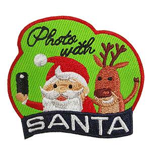 Photo with Santa Fun Patch