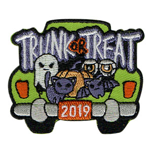 Trunk or Treat 2019 Patch from MakingFriends®.com on sale while supplies last. Celebrate Halloween with your troop by hosting or attending a Trunk or Treat. They are tons of fun! Don't forget to order our Trunk or Treat 2019 patches. Limited supplies available. via @gsleader411