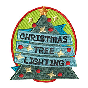 Christmas Tree Lighting Fun Patch