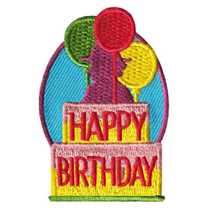 Happy Birthday Patch -- Balloons. This bright and cheery Happy Birthday Patch from MakingFriends®.com is a great way to celebrate Girl Scout's* birthday or Juliette Gordon Lowe's birthday. Our page Scout Holidays has ideas to plan your celebration as well as a link to our page Juliette Gordon Low which has information to help teach your scouts about the founder of Girl Scouts*. *MakingFriends®.com is not affiliated with, endorsed by or a licensee of Girl Scouts of the USA. via @gsleader411